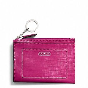 NWT! Coach Darcy Saffiano Patent Leather Wallet